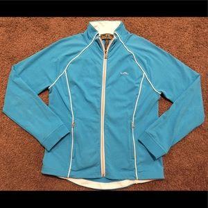LAUREN ACTIVE by Ralph Lauren Zip Up Blue Jacket L
